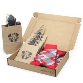 Valentina Red Argyle Socks in Customizable Wedding Groomsmen Kit