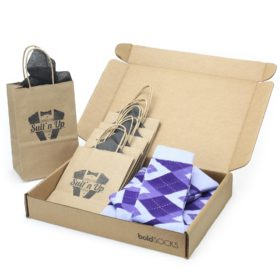 Lavender Regency Purple Argyle Socks in Customizable Groomsmen Wedding Kit Gift