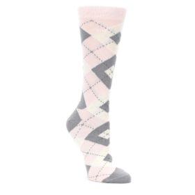 Blush Petal Pink Women's Argyle Wedding Socks
