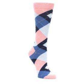 Pink Blue Women's Argyle Socks