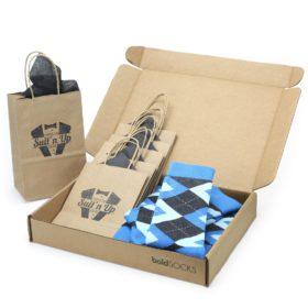 Ocean Capri Blue Argyle Socks in Customizable Wedding Groomsmen Gift Kit