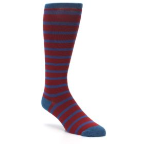 VV-Red-Blue-Stripe-Mens-Compression-Dress-Socks-Vim-Vigr