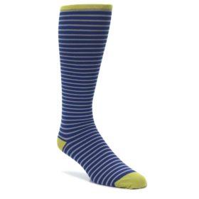 VV-Navy-Gray-Stripe-Mens-Compression-Dress-Socks-Vim-Vigr