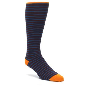 VV-Brown-Teal-Stripe-Mens-Compression-Dress-Socks-Vim-Vigr