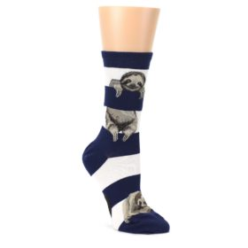 Navy-Sloth-Stripe-Womens-Dress-Socks-Mod-Sock