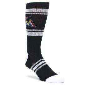 Miami-Marlins-Mens-Athletic-Crew-Socks-PKWY