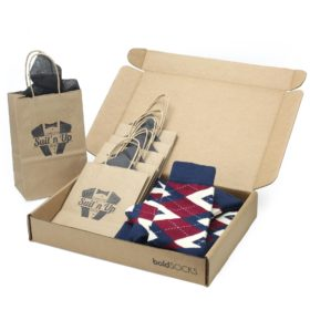 Burgundy Navy Argyle Wedding Socks in Customizable Groomsmen Gift Kit