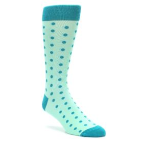 Mint Jade Polka Dot Wedding Groomsmen Socks