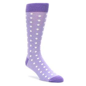 Lilac Iris Purple Polka Dot Wedding Groomsmen Socks