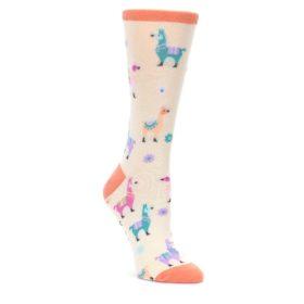 Ivory-Pastels-Llamas-Womens-Dress-Socks-K-Bell-Socks