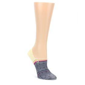 Black White Yellow Tiki Talk Women's No Show Liner Socks
