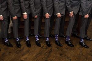 Lavender Regency Purple Argyle Men's Groomsmen Wedding Dress Socks