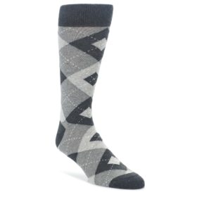 Heathered Gray Argyle Wedding Groomsmen Socks
