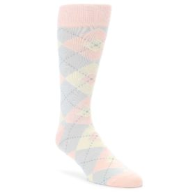 Blush Pink Argyle Wedding Groomsmen Socks