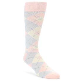 Blush Pink Argyle Wedding Groomsmen Socks