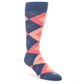 Sunset-Navy-Argyle-Mens-Dress-Socks-Statement-Sockwear