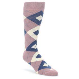 Desert Rose Argyle Groomsmen Wedding Socks