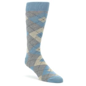 Slate-Gray-Argyle-Mens-Dress-Socks-Statement-Sockwear