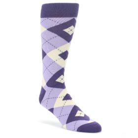 Amethyst-Lilac-Iris-Argyle-Mens-Dress-Socks-Statement-Sockwear