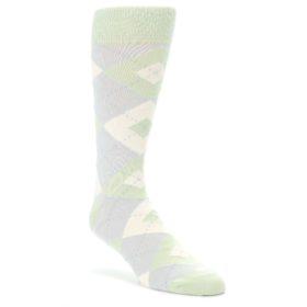 Sage-Meadow-Gray-Argyle-Mens-Dress-Socks-Statement-Sockwear
