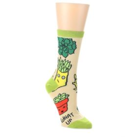 Tan-Green-What-Up-Succa-Womens-Dress-Socks-Oooh-Yeah-Socks
