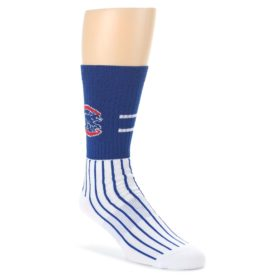 Chicago-Cubs-Pinstripes-Mens-Athletic-Crew-Socks-PKWY