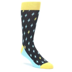 Lighting Bolt Socks for Men by Statement Sockwear
