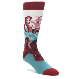 Kraken Octopus Squid Men's Dress Socks by Statement Sockwear