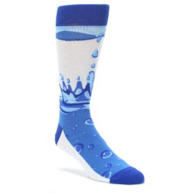 Water Droplet Socks for Men by Statement Sockwear