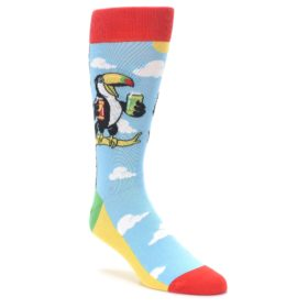 Two-Can Toucan Drinking Bird Socks for Men by Statement Sockwear
