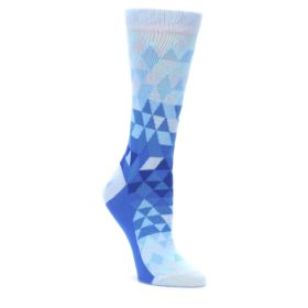 Blues Triangle Geometric Women's Dress Socks