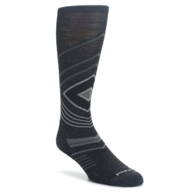 Charcoal-Heather-High-Crest-Wool-Mens-Casual-Socks-Smartwool