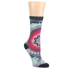 Multicolor-Morningside-Print-Wool-Womens-Casual-Socks-Smartwool