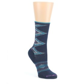 Navy-Teal-Purple-Tiva-Wool-Womens-Casual-Socks-Smartwool