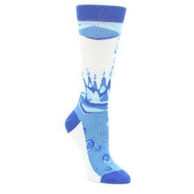 Blue-Water-Droplet-Womens-Dress-Socks-Statement-Sockwear