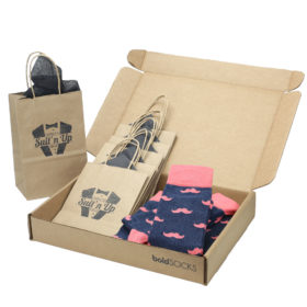 Coral-Navy-Mustache-Men's-Dress-Socks-Statement-Sockwear