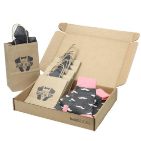 Flamingo-Petal-Gray-Mustache-Men's-Dress-Socks-Statement-Sockwear