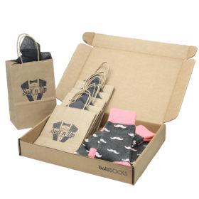 Flamingo-Petal-Gray-Mustache-Men's-Dress-Socks-Statement-Sockwear