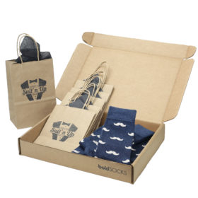 Heathered-Navy-Mustache-Men's-Dress-Socks-Statement-Sockwear