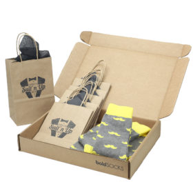 Lemon Gray Mustache Men's Dress Socks Statement Sockwear