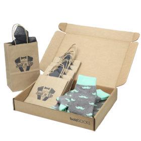 Mint-Gray-Mustache-Men's-Dress-Socks-Statement-Sockwear