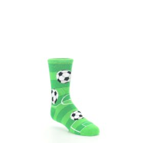 7-10Y-Green-White-Soccer-Balls-Kids-Dress-Socks-Socksmith