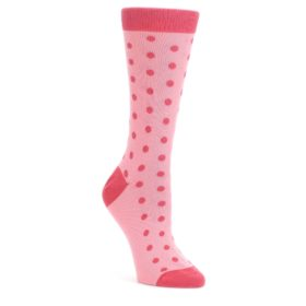 Flamingo-Guava-Polka-Dot-Womens-Dress-Socks-Statement-Sockwear