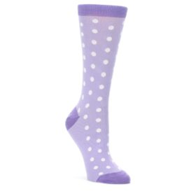 Lilac Iris Purple Polka Dot Women's Dress Socks