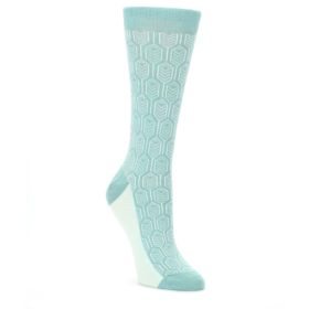 Teal-Feather-Optics-Womens-Dress-Socks-Statement-Sockwear