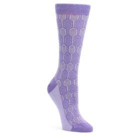 Purple-Feather-Optics-Womens-Dress-Socks-Statement-Sockwear