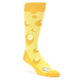 Yellow-Cheesy-Mouse-Mens-Dress-Socks-Statement-Sockwear