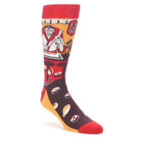 Red-Sushi-Chef-Mens-Dress-Socks-Statement-Sockwear
