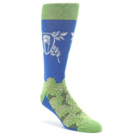 Blue-Green-Beer-Hops-Mens-Dress-Socks-Statement-Sockwear