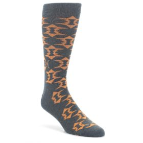 Gray-Orange-Fights-Malaria-Mens-Dress-Socks-Conscious-Step